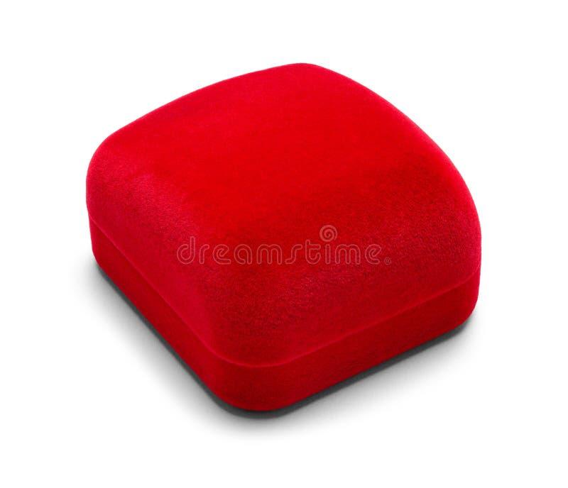 Roter Samt Ring Box lizenzfreie stockbilder