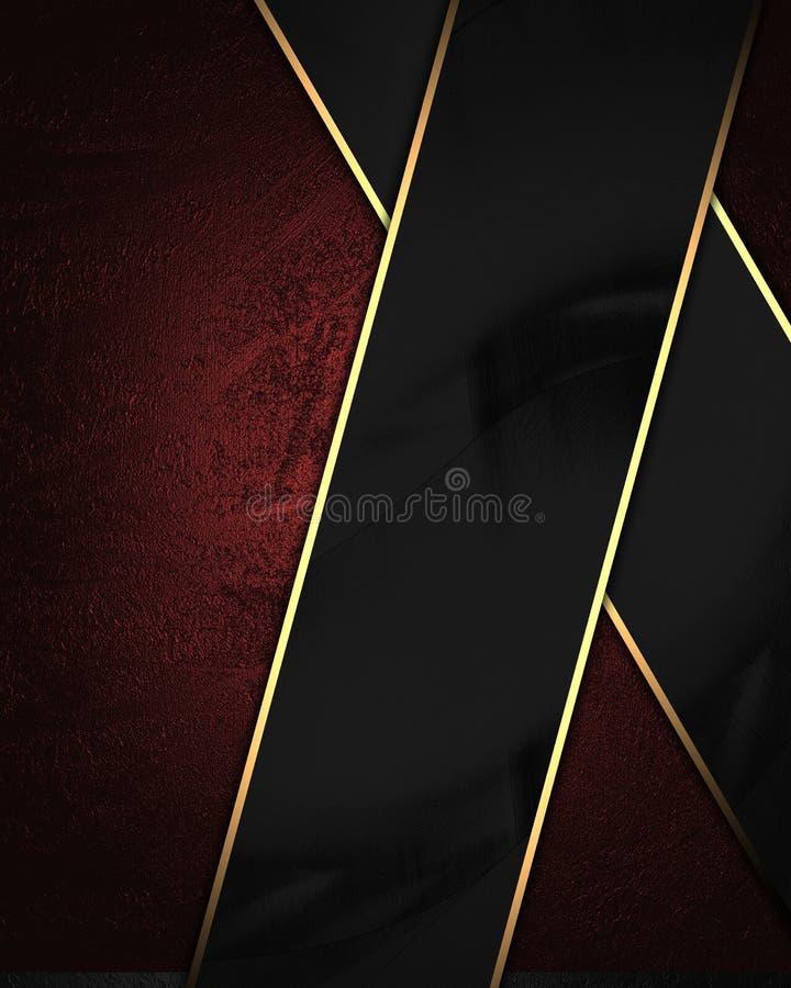 Roter Samthintergrund mit Schwarzblech Element für Entwurf Schablone für Entwurf kopieren Sie Raum für Anzeigenbroschüre oder Mit lizenzfreie stockbilder