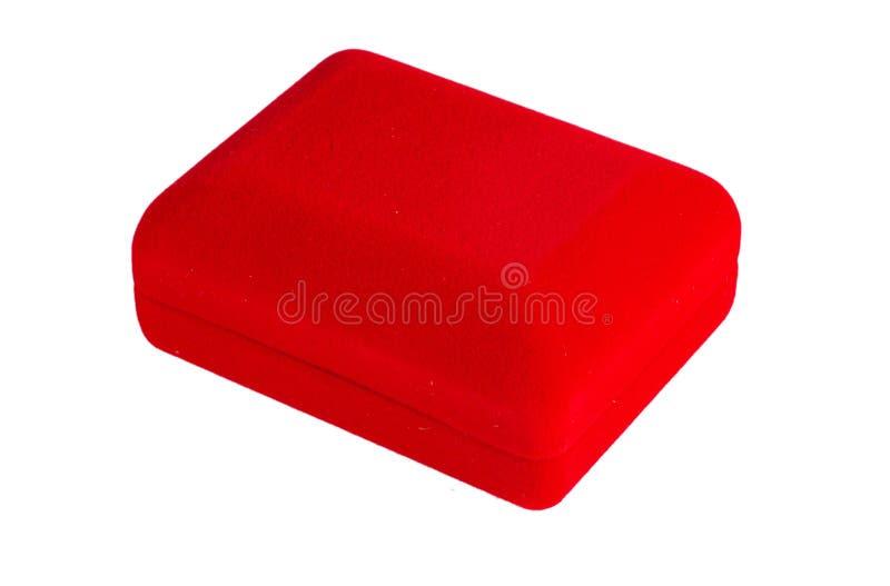 Roter Samtkasten stockbild