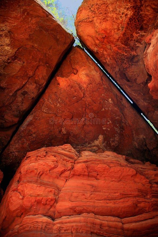 Roter Sandstein stockfotos