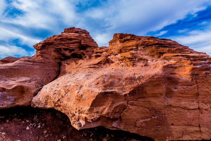 Roter Sandstein-Felsen im New Mexiko lizenzfreie stockfotos