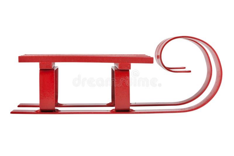 Roter Schlitten lizenzfreie stockbilder