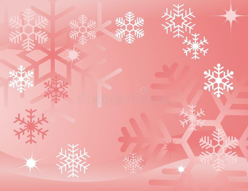 Roter Schneeflockehintergrund lizenzfreie abbildung