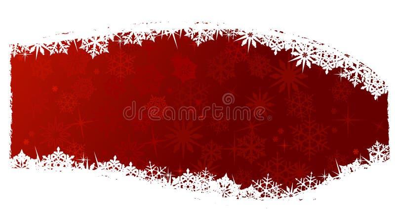 Roter Schneeflockehintergrund