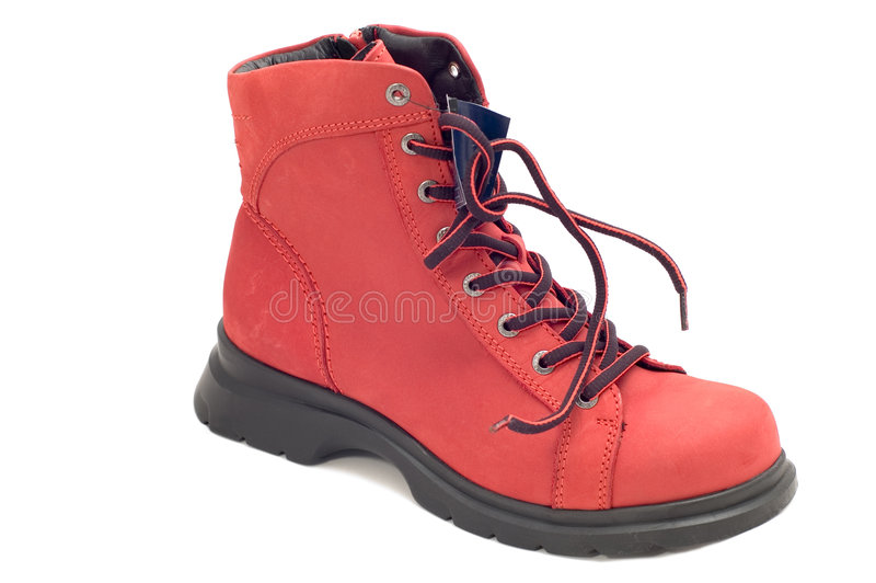 Roter Schuh lizenzfreies stockbild
