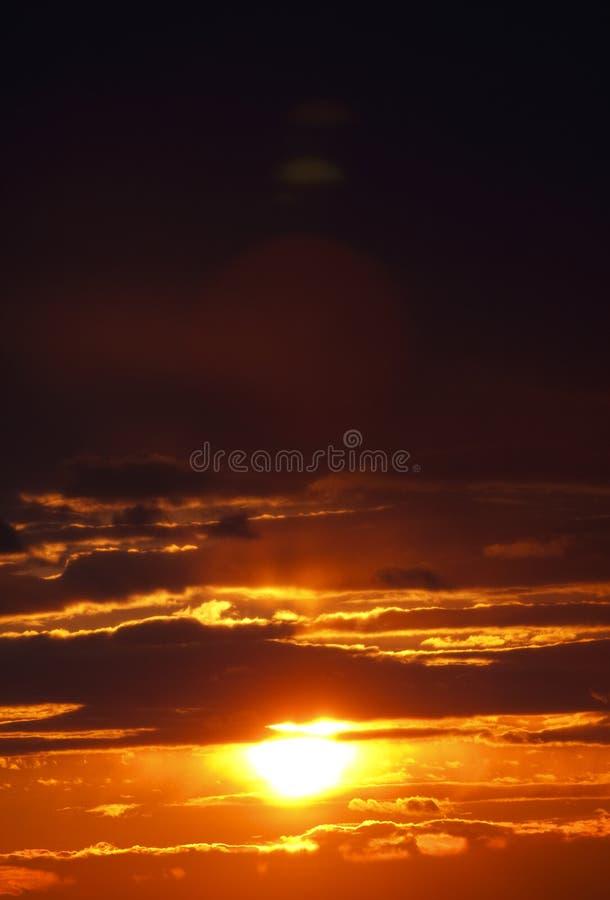 Roter Sonnenuntergang lizenzfreie stockfotografie