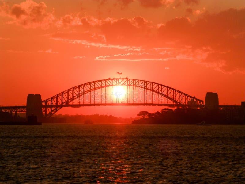 Roter Sonnenuntergang stockfotografie