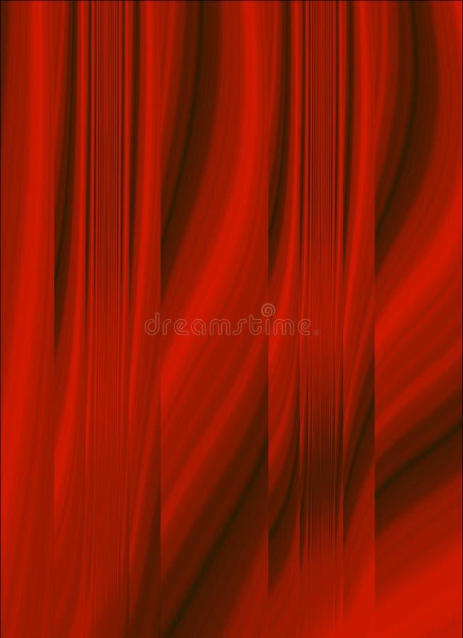 Roter Stae Trennvorhang stock abbildung