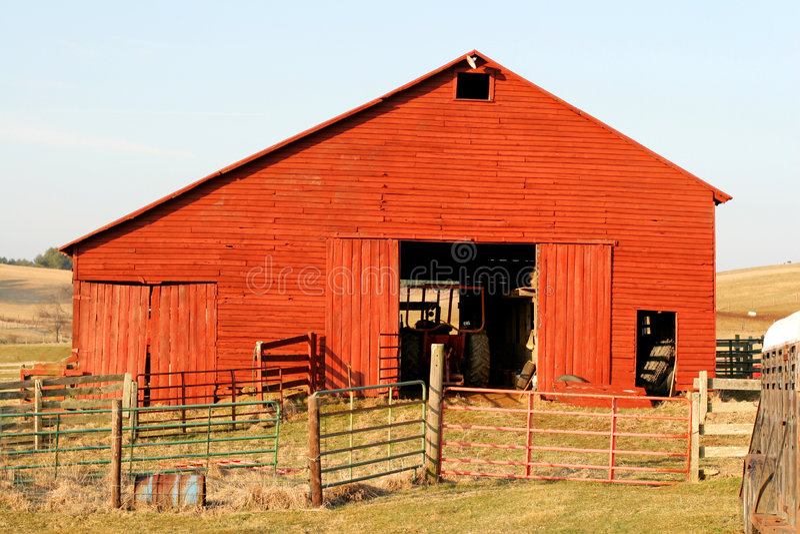 Roter Stall stockfoto