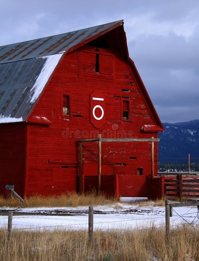 Roter Stall 5 stockfotos