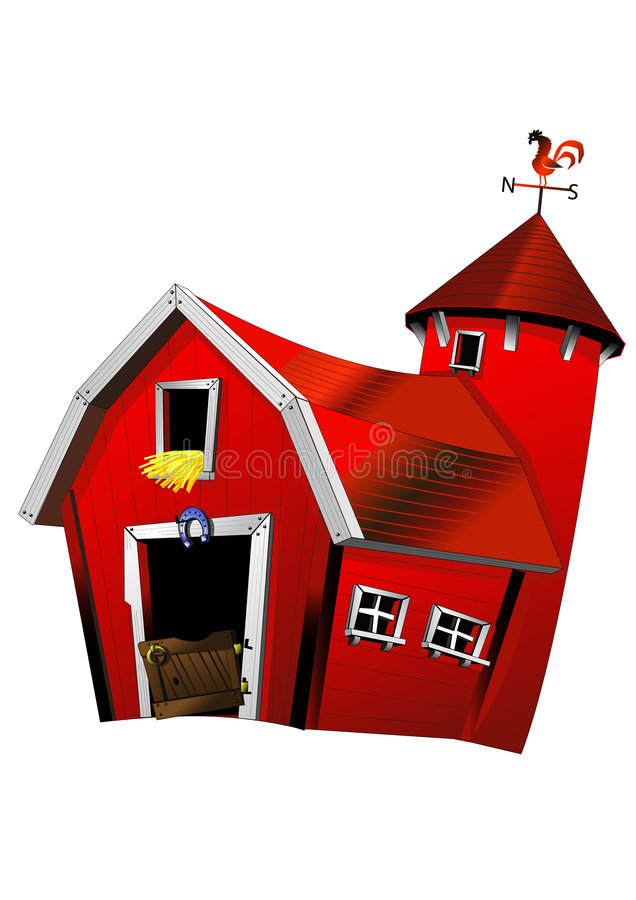 Roter Stall stock abbildung