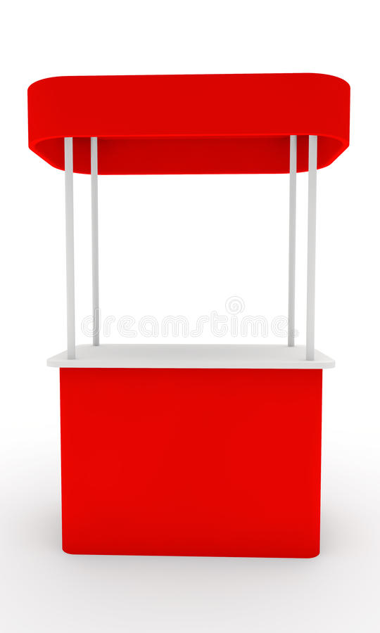 Roter Standplatz vektor abbildung