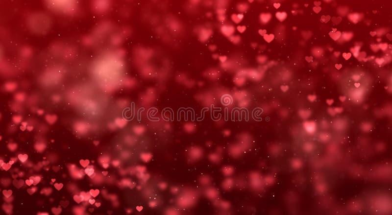 Roter Steigungshintergrund der abstrakten Weihnachtssteigung mit bokeh g lizenzfreies stockfoto