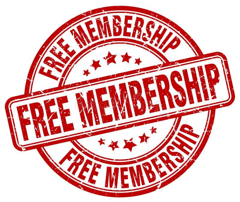 Roter Stempel der freien Mitgliedschaft lizenzfreie abbildung