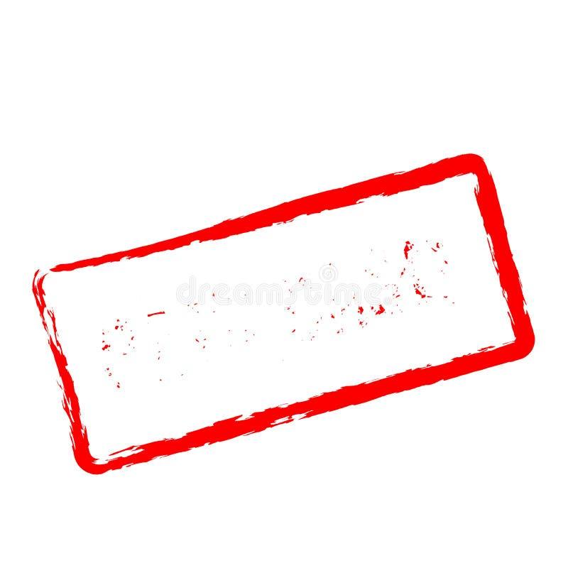 Roter Stempel des zahlenden Bargeldes lokalisiert auf Weiß stock abbildung