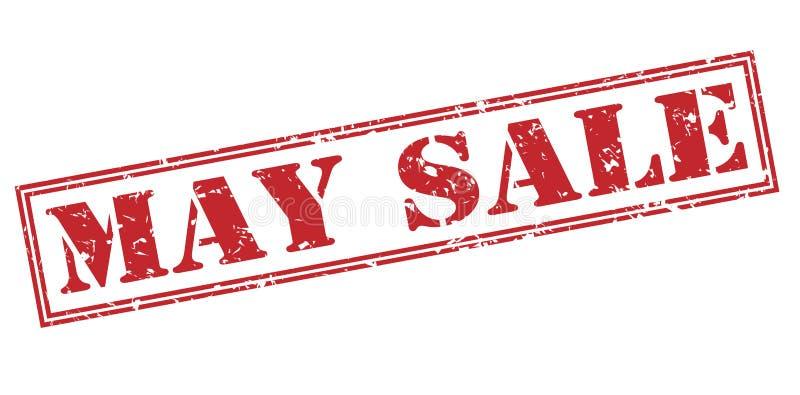 Roter Stempel Mai-Verkaufs lizenzfreie abbildung