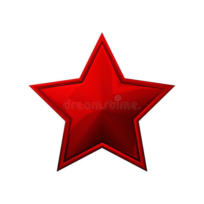 Roter Stern lizenzfreie abbildung