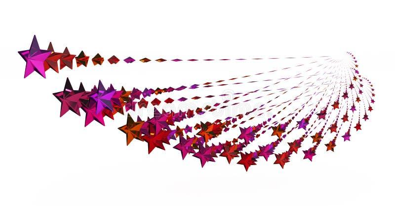 Roter Stern-Lichtbogen lizenzfreie abbildung