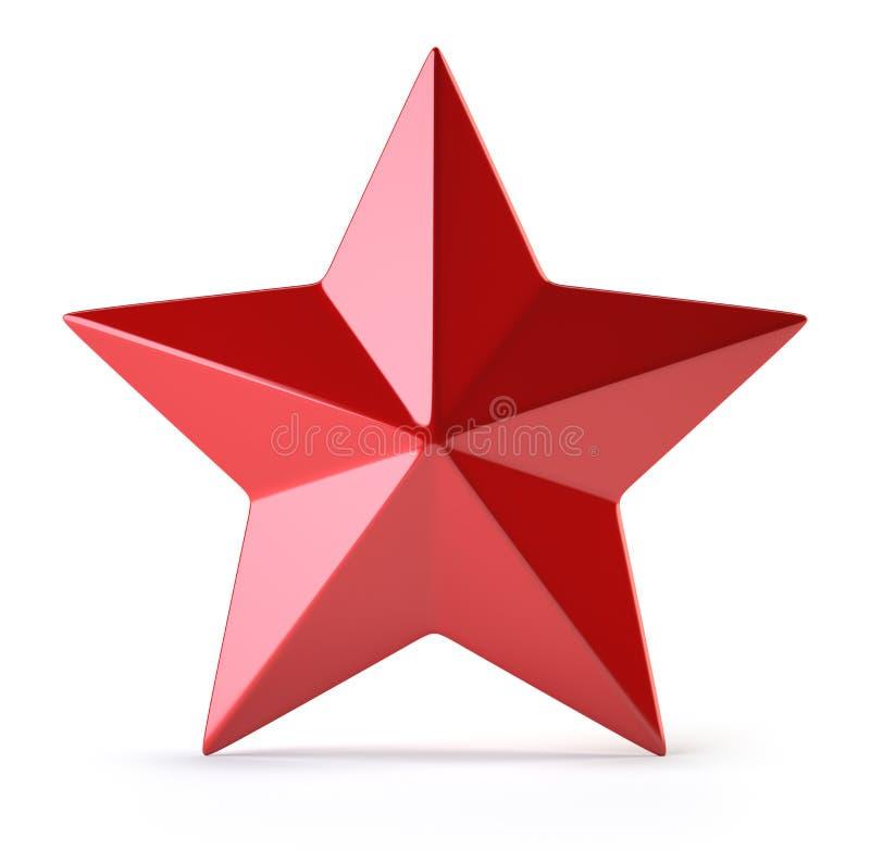 Roter Stern lokalisiert auf Weiß lizenzfreie abbildung