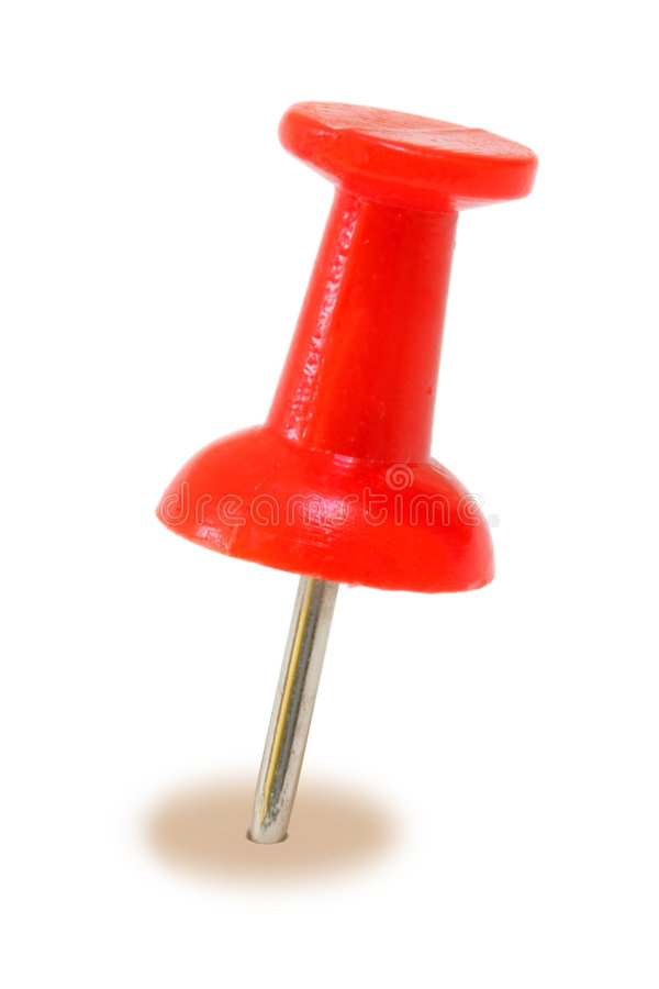 Roter StoßPin lizenzfreie stockbilder