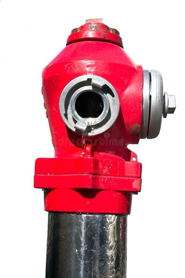 Roter Straßenhydrant stockfoto