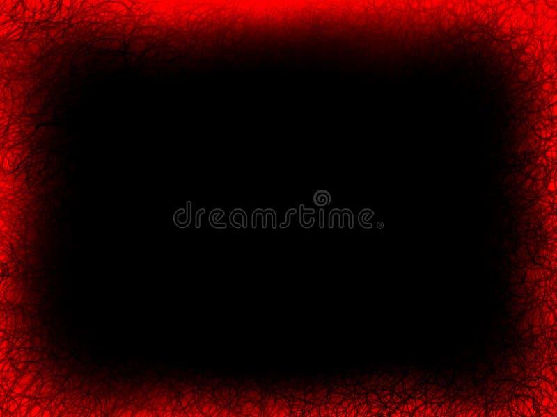 Roter strukturierter Flammenrahmen der Zusammenfassung auf lokalisiert einem schwarzen Hintergrund stockfotos