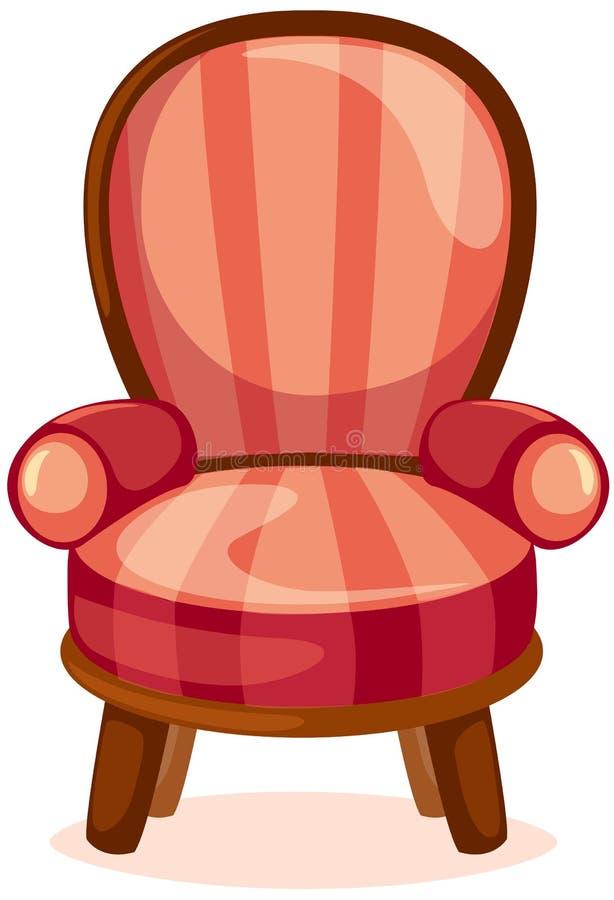 Roter Stuhl lizenzfreie abbildung