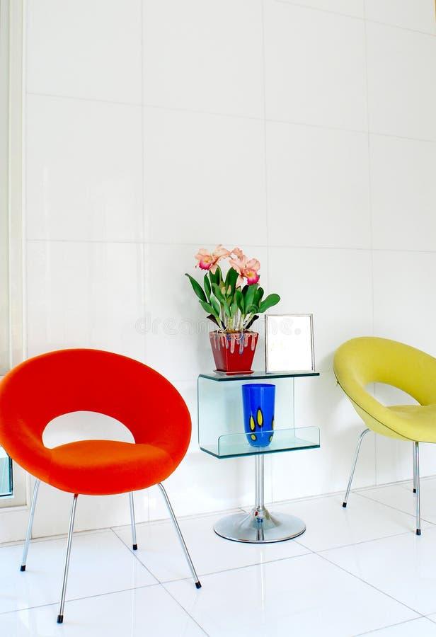 Rote Retro Stuhl Lampe Stockbild Bild Von Couch