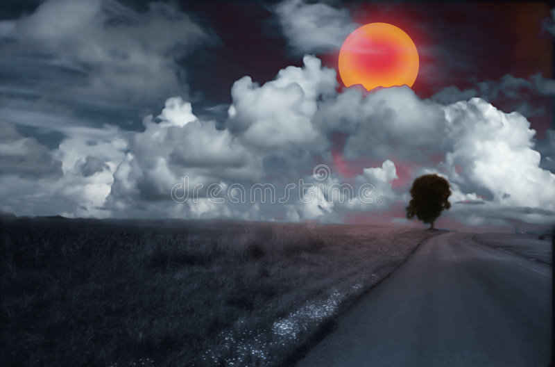 Roter Sun stockfotos