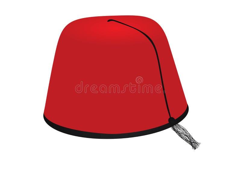 Roter t?rkischer Hut stock abbildung