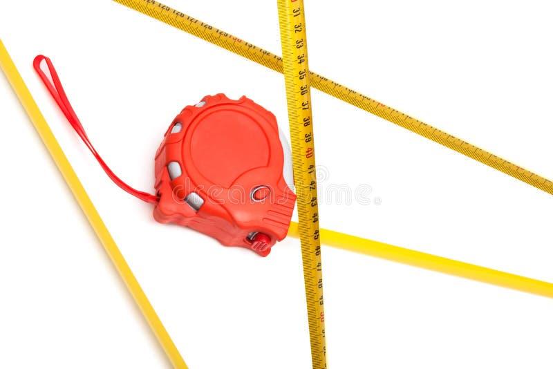 Roter Tape-measure stockfotografie
