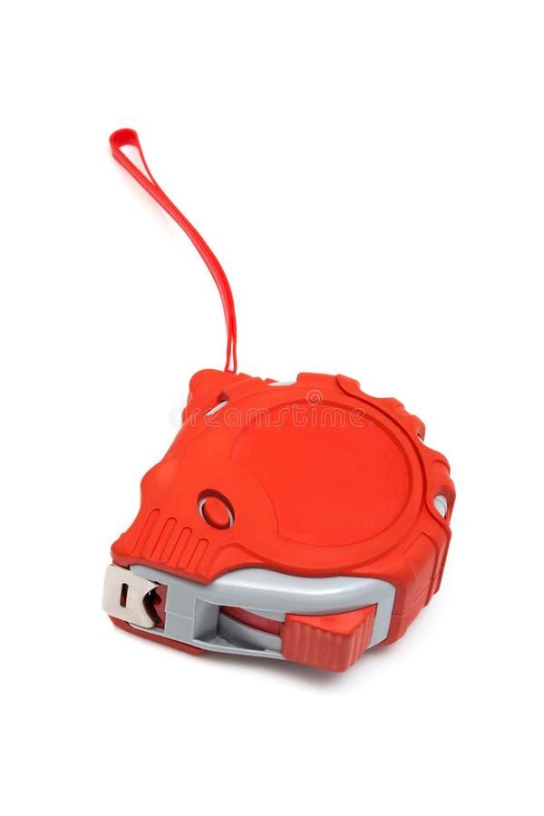 Roter Tape-measure lizenzfreies stockbild