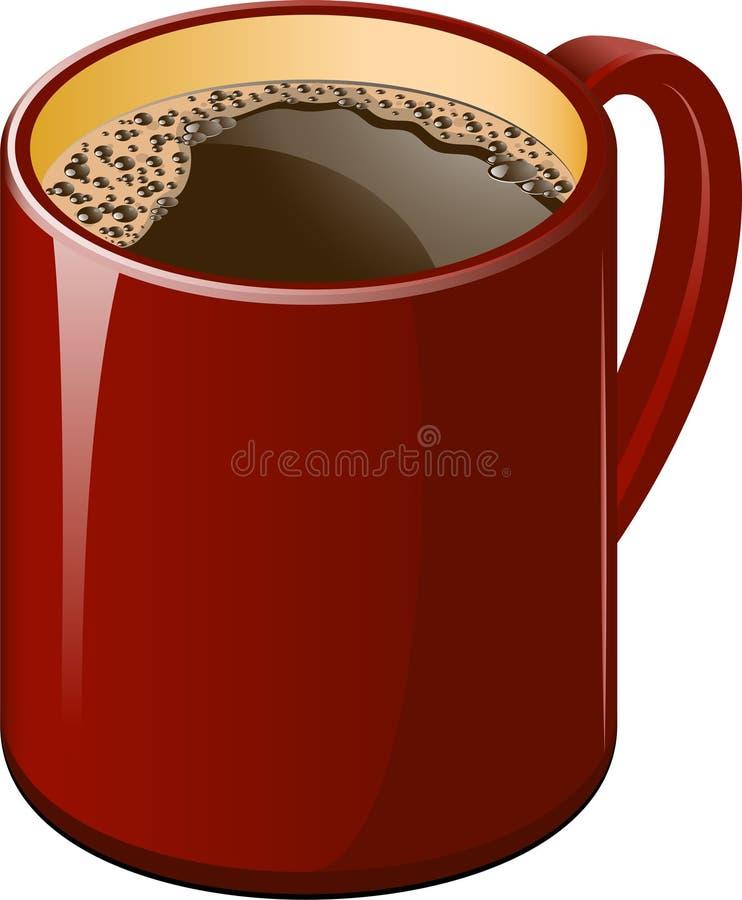 Roter Tasse Kaffee vektor abbildung