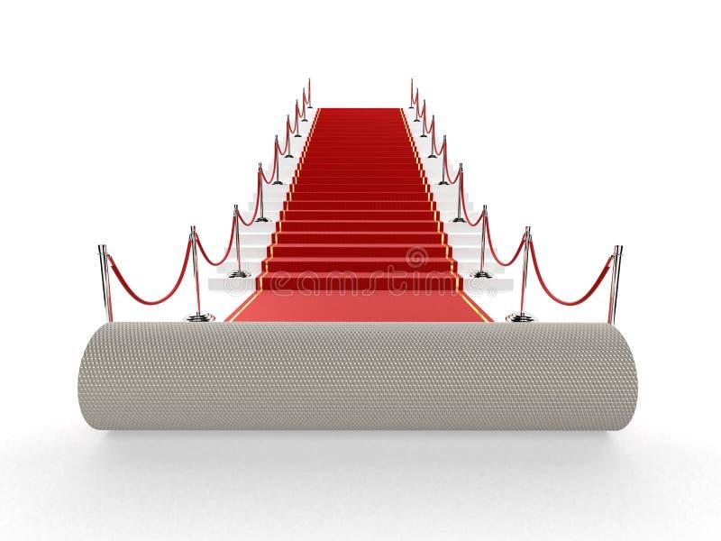 Roter Teppich stock abbildung