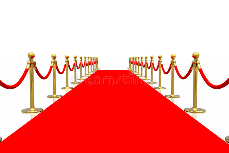 Roter Teppich lizenzfreie abbildung