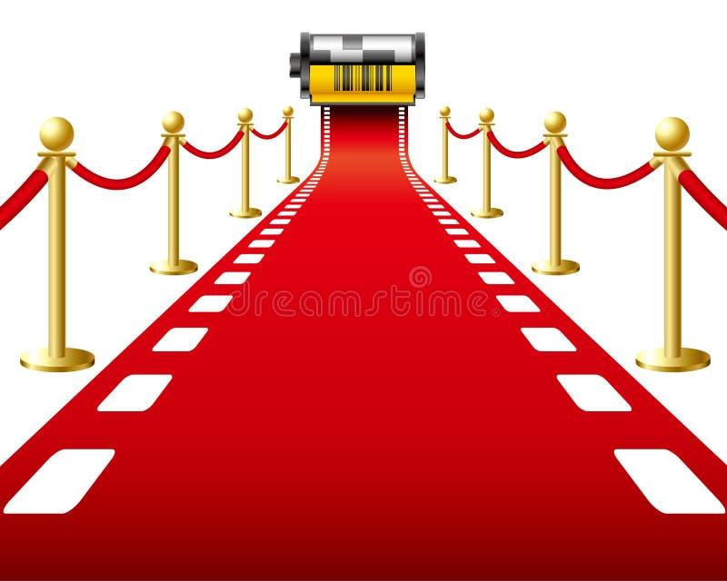Roter Teppich-Film stock abbildung