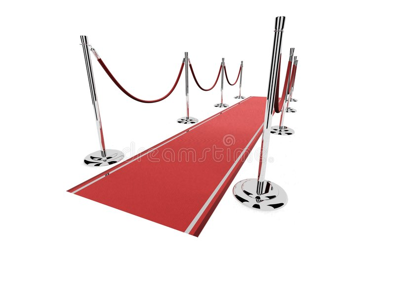 Roter Teppich mit Sperren vektor abbildung
