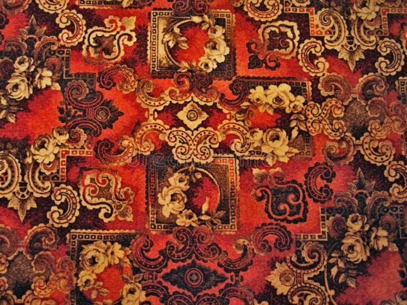 Roter Teppich von Zeichnungen stockfotos