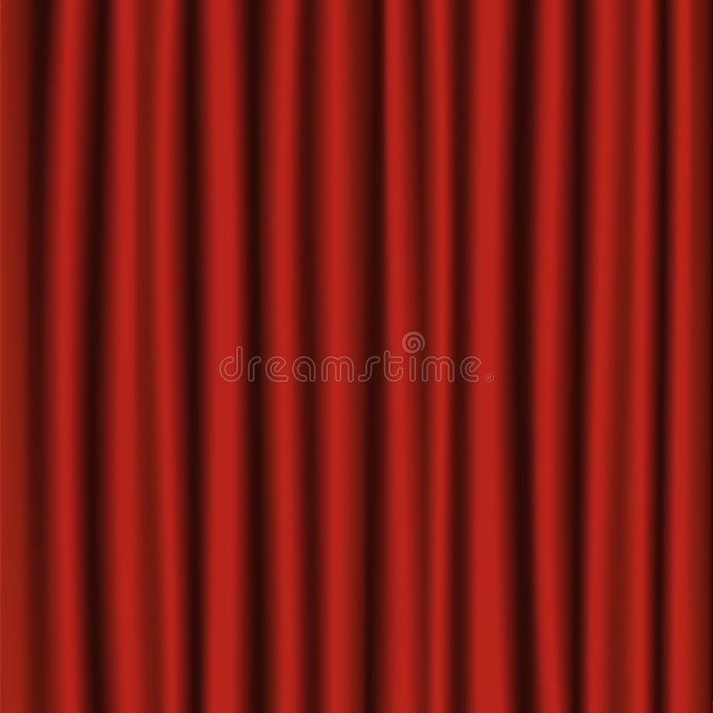 Roter Theatertrennvorhang lizenzfreie abbildung