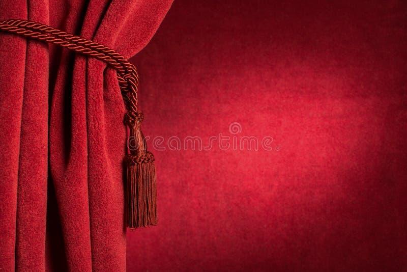 Roter Theatervorhang lizenzfreies stockfoto