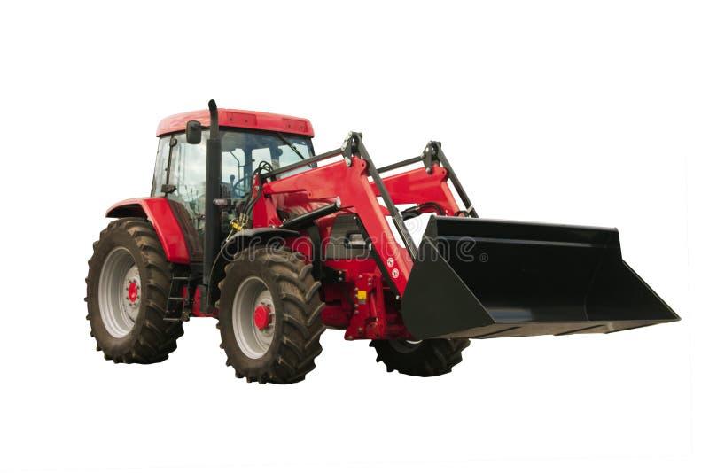 Roter Traktor stockbild