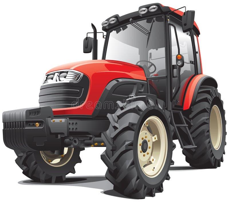 Roter Traktor vektor abbildung