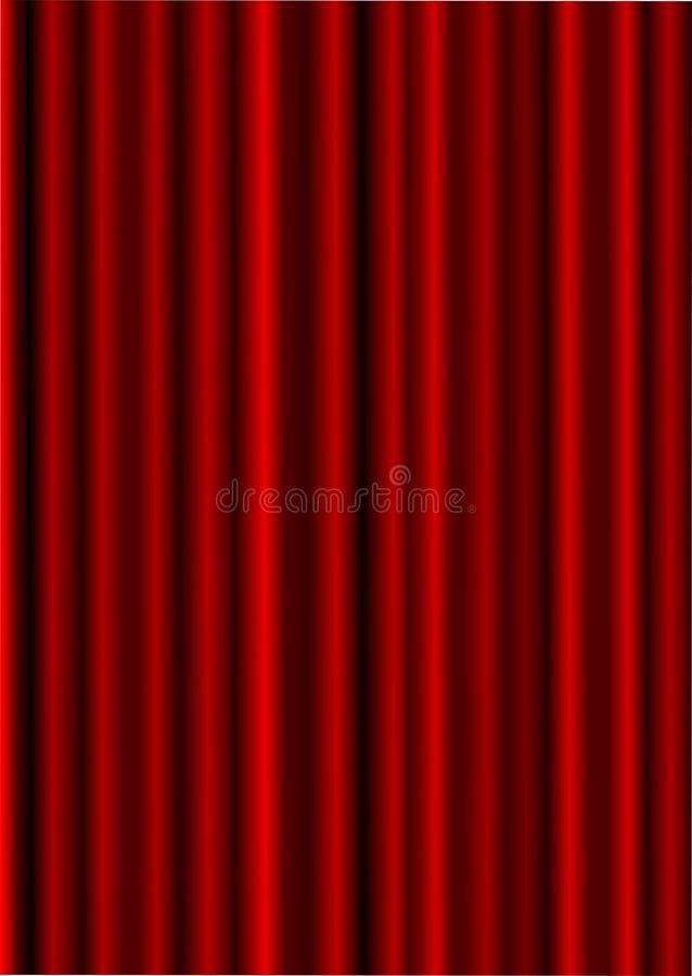 Roter Trennvorhang. lizenzfreie abbildung