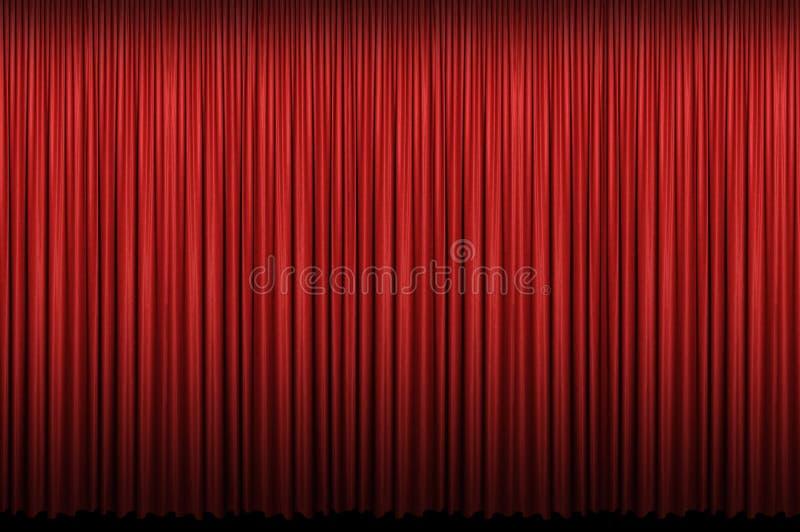 Roter Trennvorhang stockfotografie