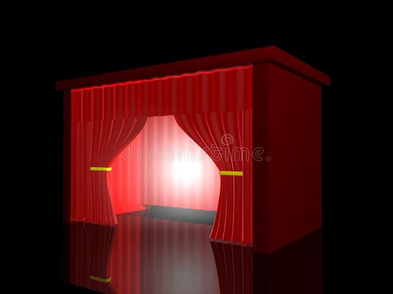 Roter Trennvorhang lizenzfreie abbildung
