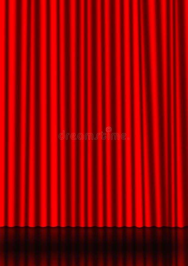 Roter Trennvorhang vektor abbildung