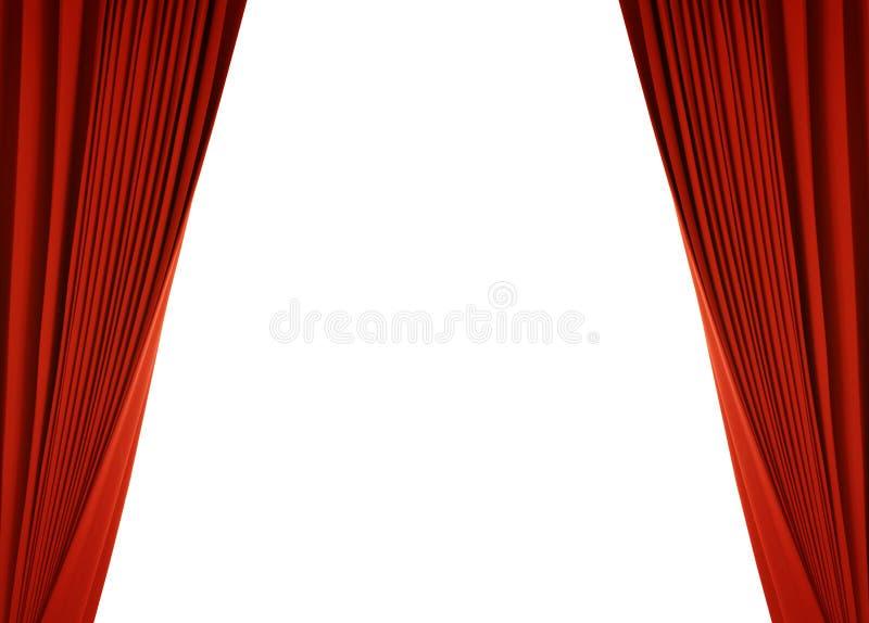 Roter Trennvorhang (mit Pfad) lizenzfreie abbildung