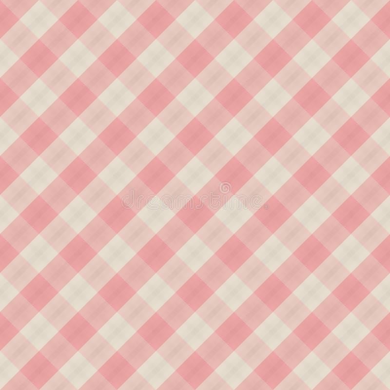 Roter u. weißer nahtloser Hintergrund des vektorgewebes stock abbildung
