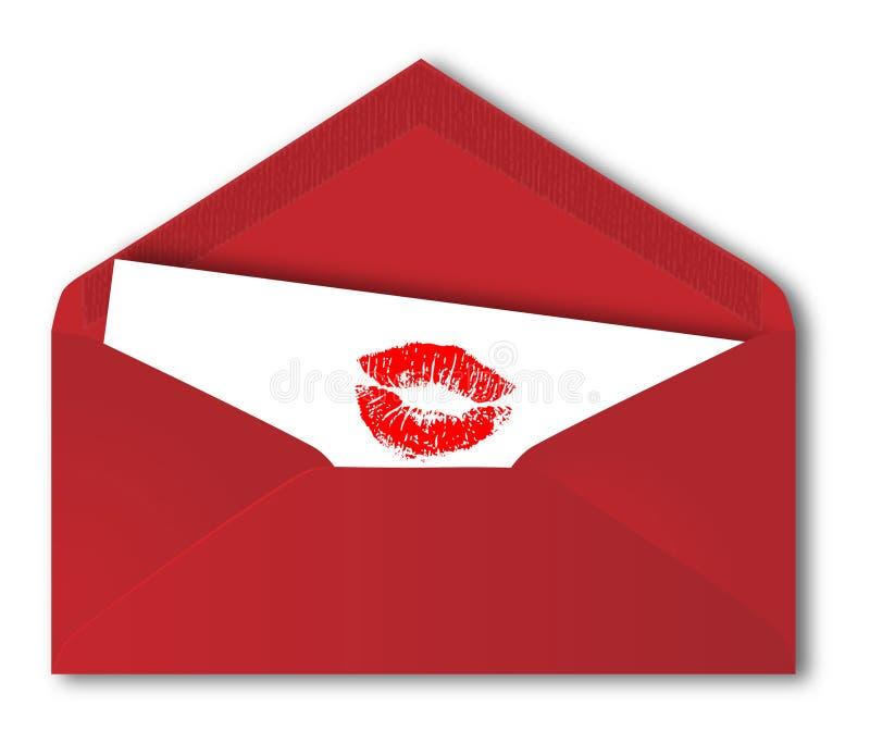 Roter Umschlag lizenzfreie abbildung