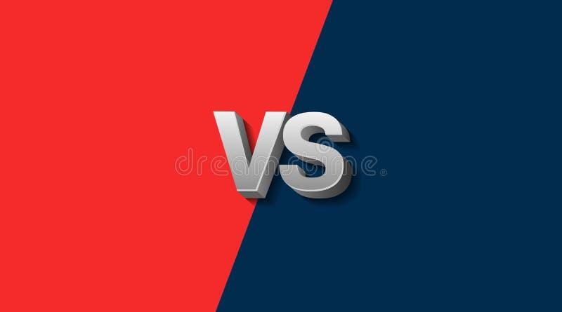 Roter und blauer Kämpfer-Hintergrund gegen Schirm, Vektor-Illustration stock abbildung